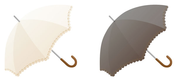 白い傘 黒い傘