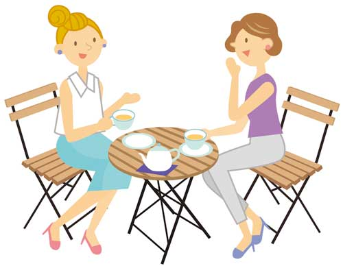 友達とお茶