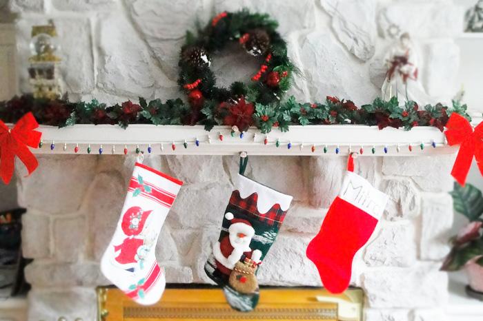 手作りクリスマスブーツ