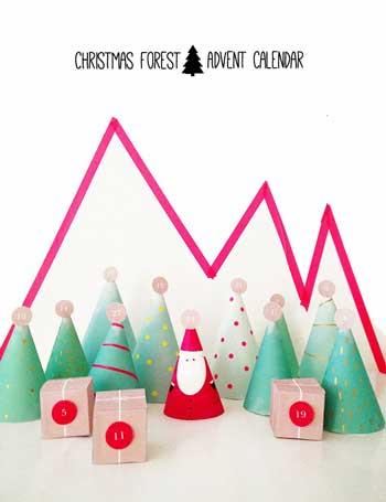 サンタ・ツリー・プレゼントのアドベントカレンダー