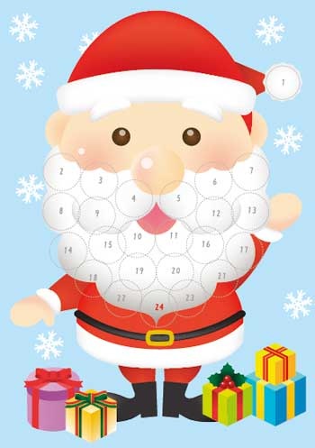 サンタのアドベントカレンダー
