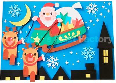 クリスマスの壁面飾り