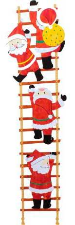 クリスマスの壁面飾り サンタ