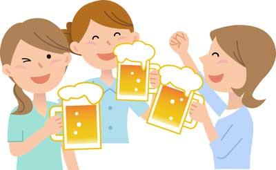 友達とビール
