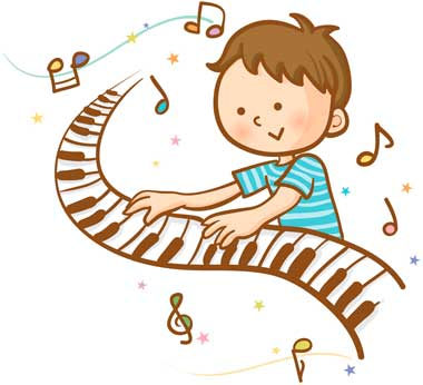 ピアノを弾く男の子
