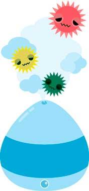 加湿器でウイルス予防