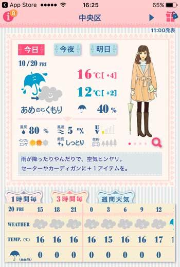 アプリ おしゃれ天気