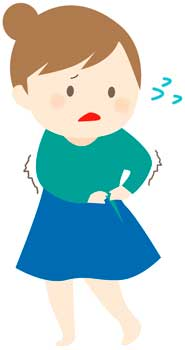 太ってスカートが入らない女性