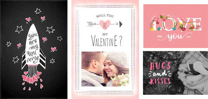 オシャレなバレンタインカード