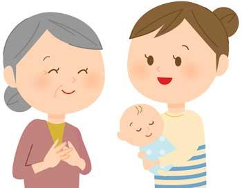 嫁と義母と赤ちゃん