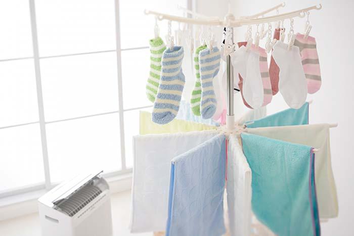 部屋干し(室内干し)の洗濯物