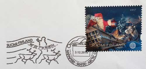 フィンランドのサンタさんからの手紙
