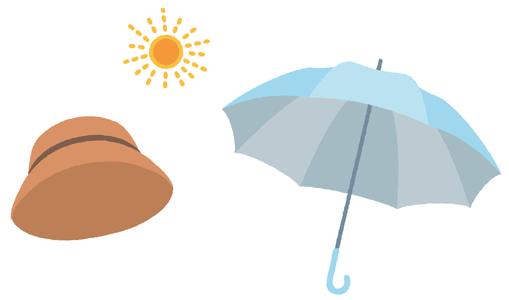 夏の日傘と帽子、どちらが効果的?