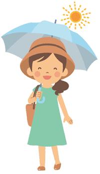 夏の日傘と帽子、併用はおかしい?