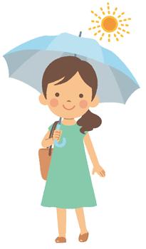 日傘が効果的な場面